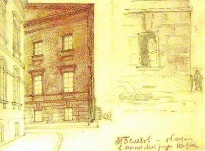 Рисунки своего двора и дома